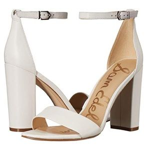 NEW Sam Edelman Yaro White Heels